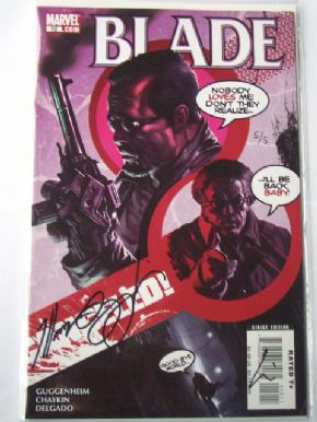 Blade #12 Dynamic Forces Signed Guggenheim & Chaykin COA Ltd 5 Marvel comic book
